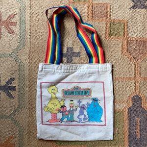 Vintage Sesame Street Live Small Tote Bag